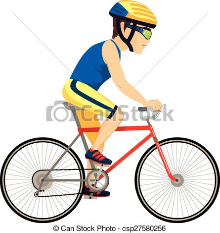 Cyclist professional young csp. Cycling clipart man graphic download