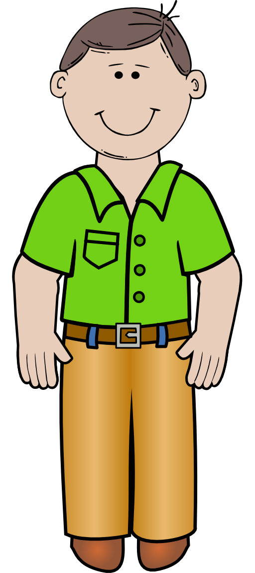 Male clipart man standing.