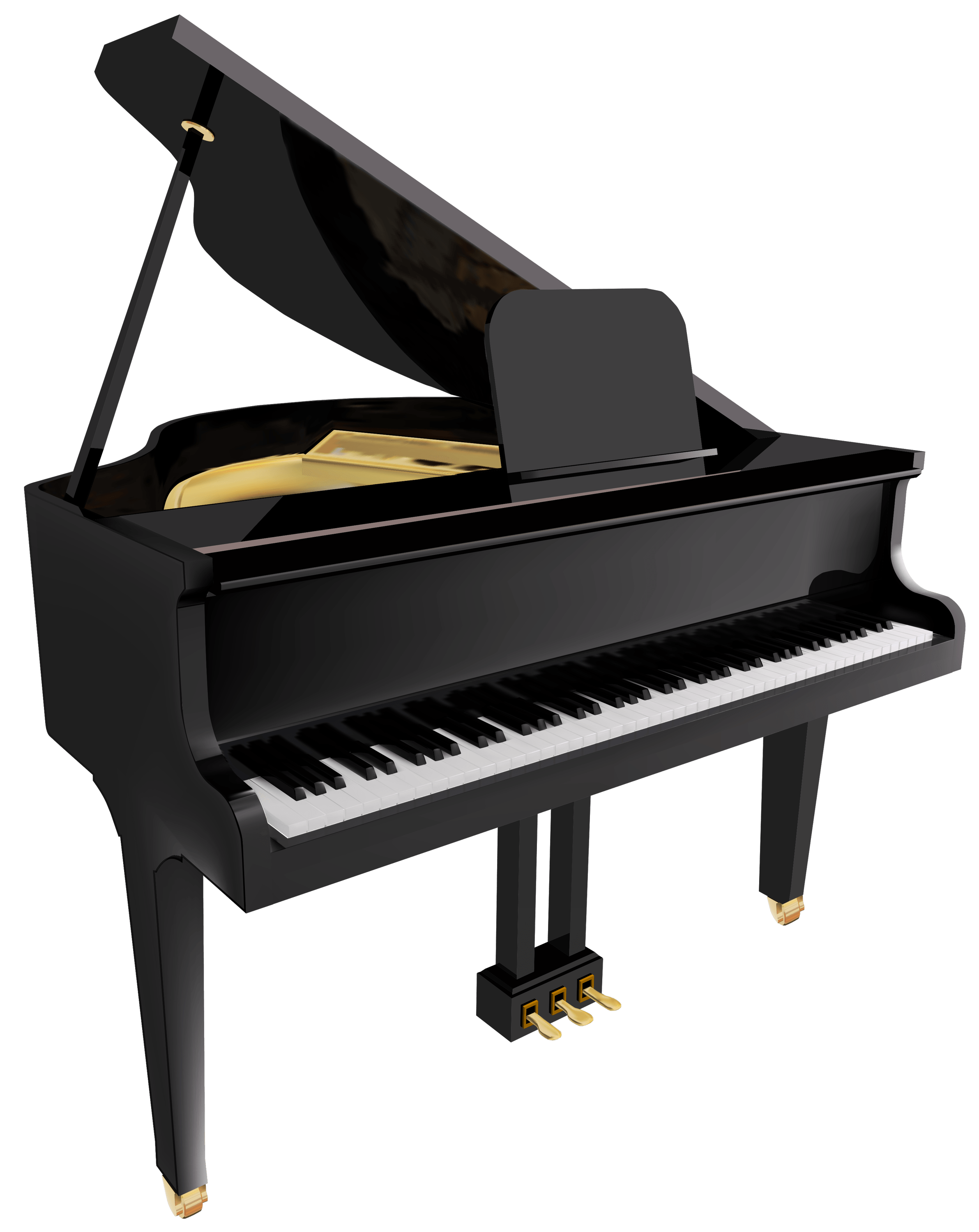 Transparent pianos. Piano png images stickpng
