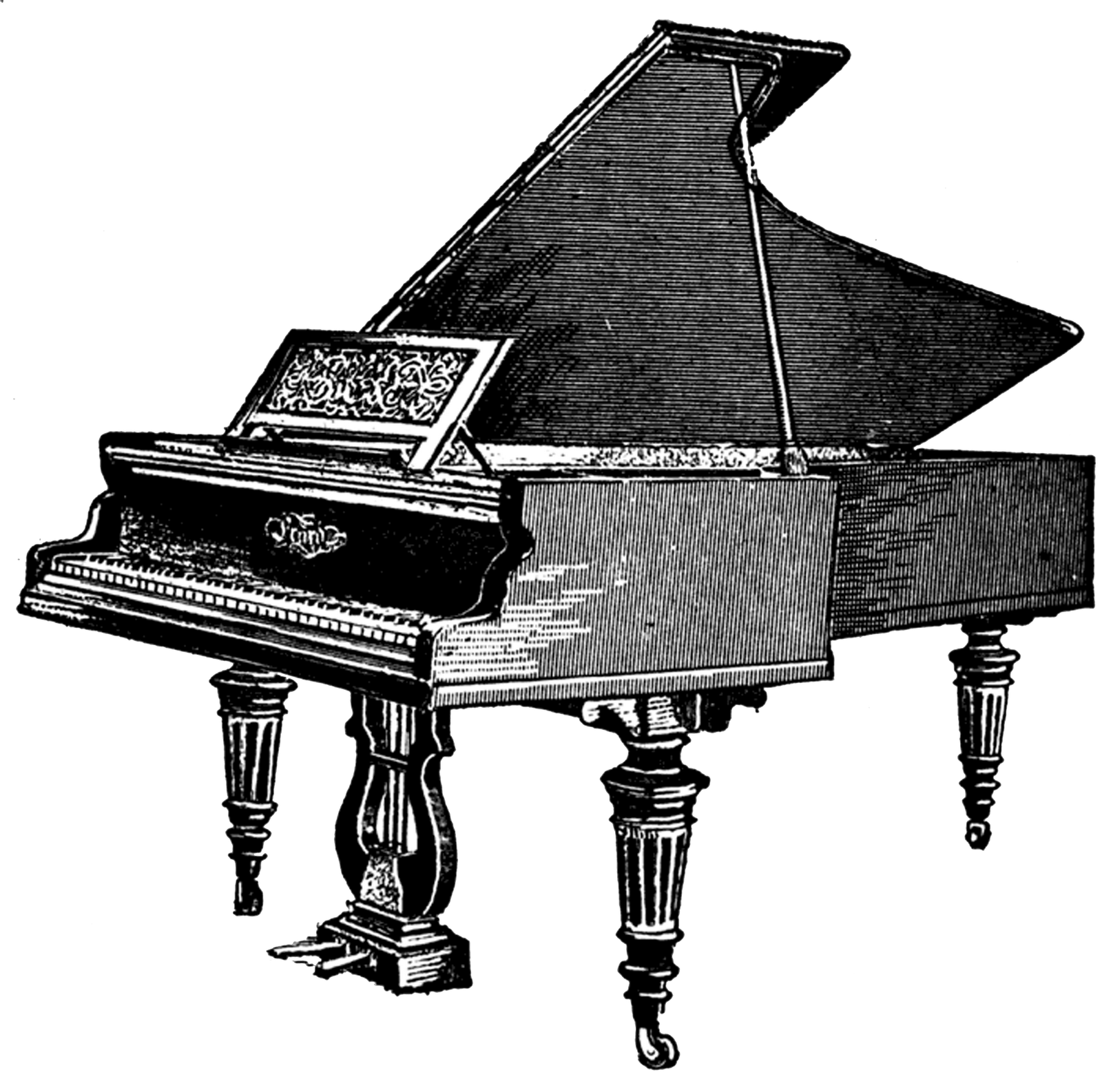 transparent pianos