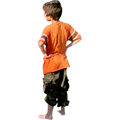 Back of boy png. Kid image