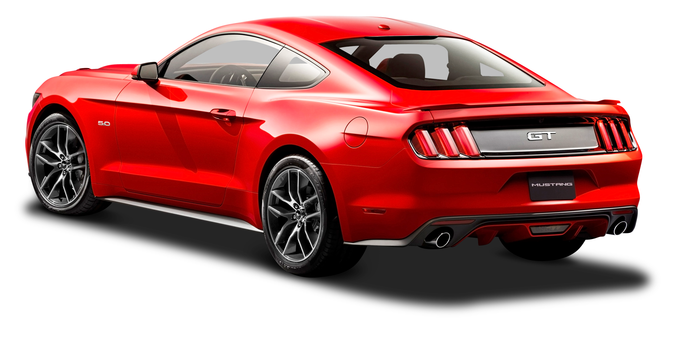 Back of car png. Ford mustang red side