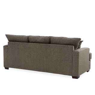 Back of couch png. Grey beige upholstered sofa