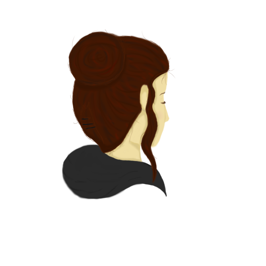 Back of head png. Side view sketch by