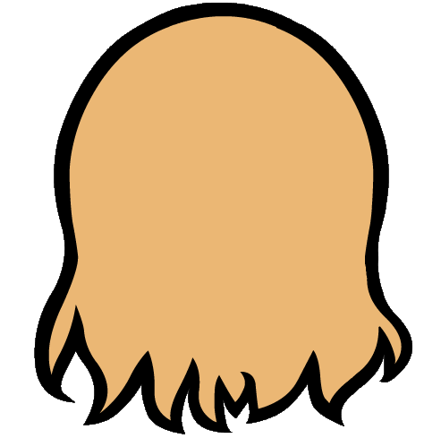 Back of head png. Yoko no ears by