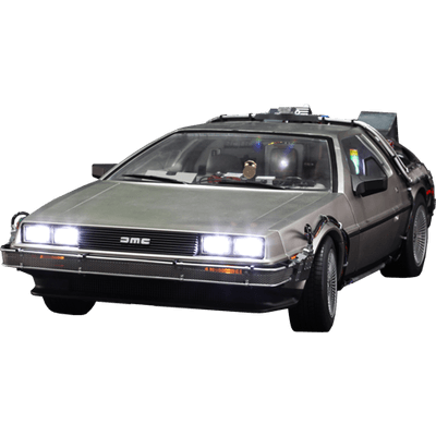 Back to the future car flying png. Delorean front transparent stickpng