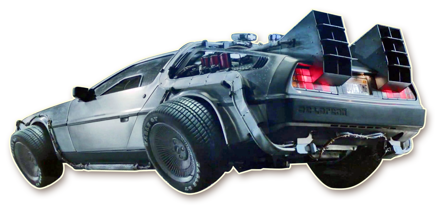 Back to the future car flying png. Sketchwall challenge industries local