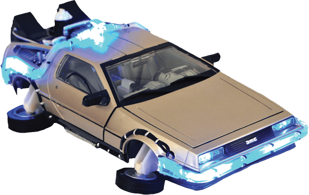 Back to the future png. Flying delorean transparent stickpng