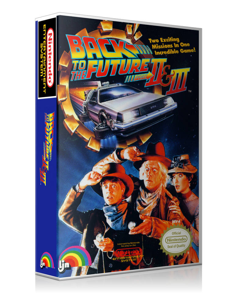 Back to the future part 2 logo png. Nes and retail game