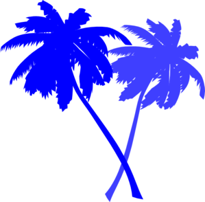 Background clipart blue. Palm tree black