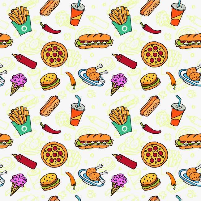 Background clipart food. Colorful cuisine colourful delicious