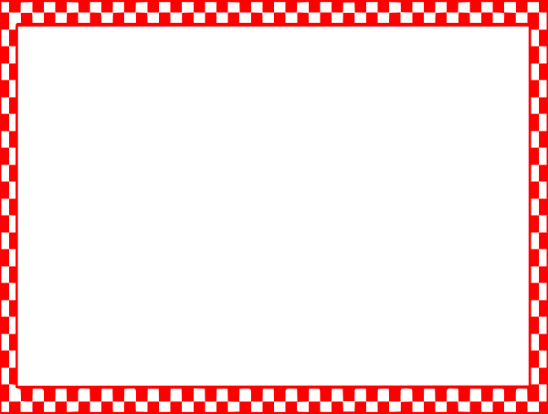 Checkered vector border. Free picnic clip art