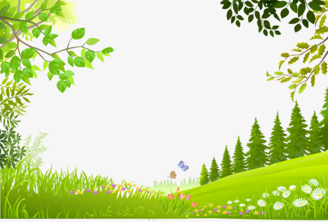 Background clipart plant. Cartoon trees plants green