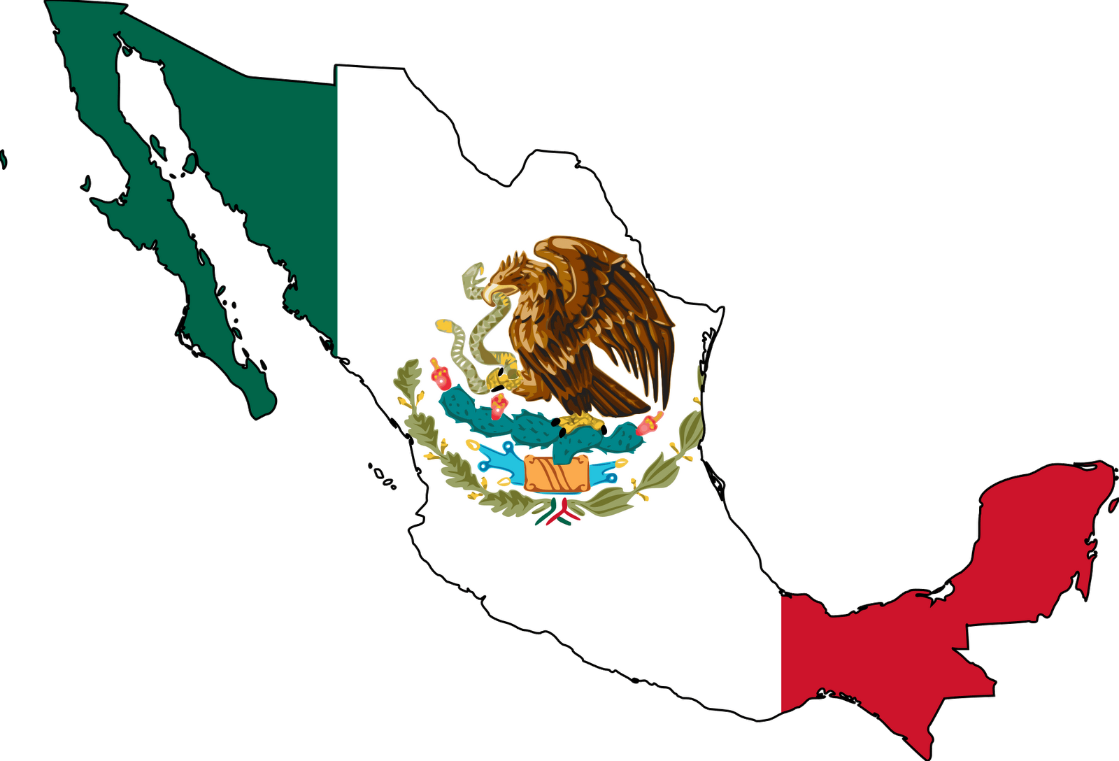 Mexican vector png. Free clip art maps