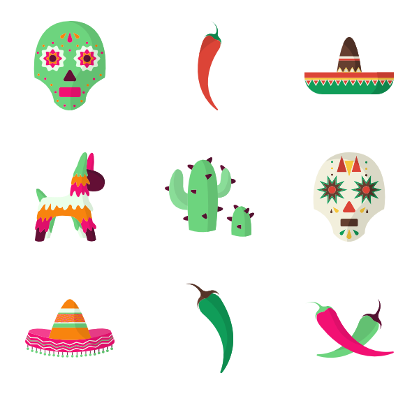 mexican flowers vector png