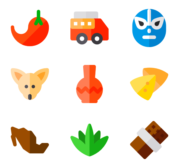 Background mexican png. Food icon packs
