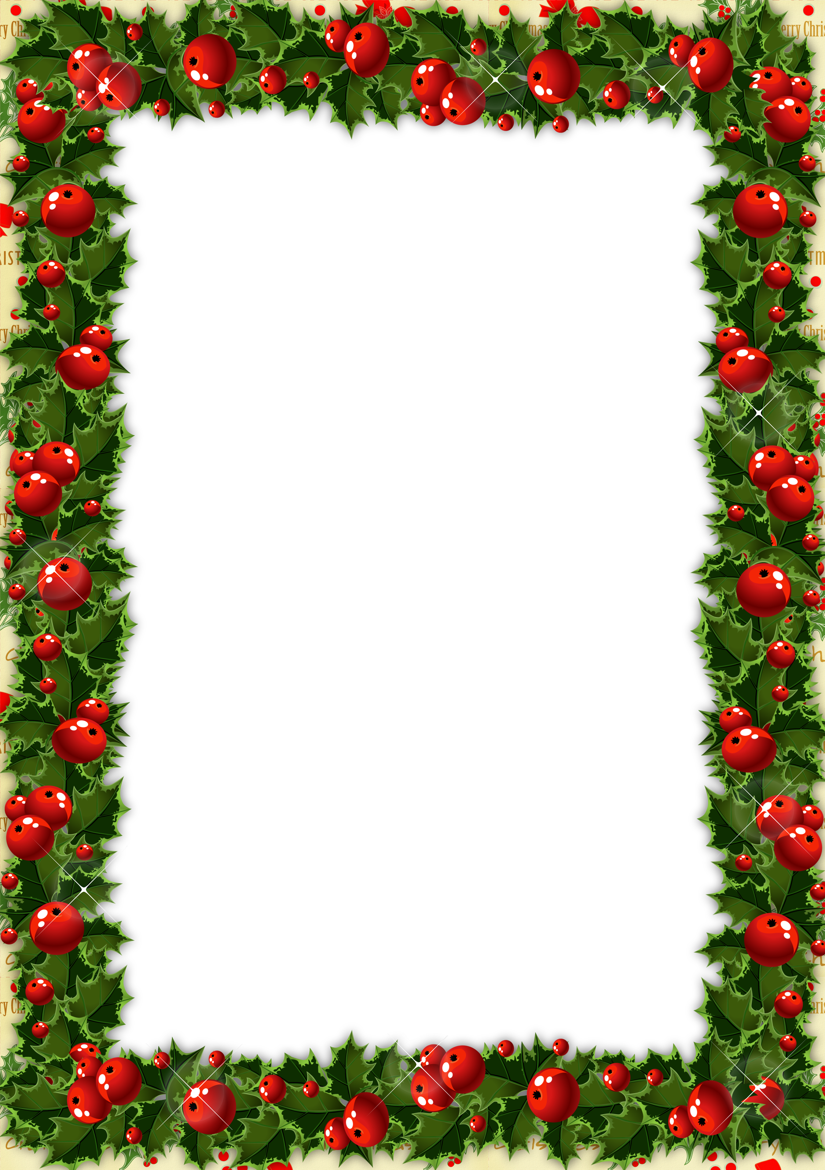 Png photo frames free. Transparent christmas frame with
