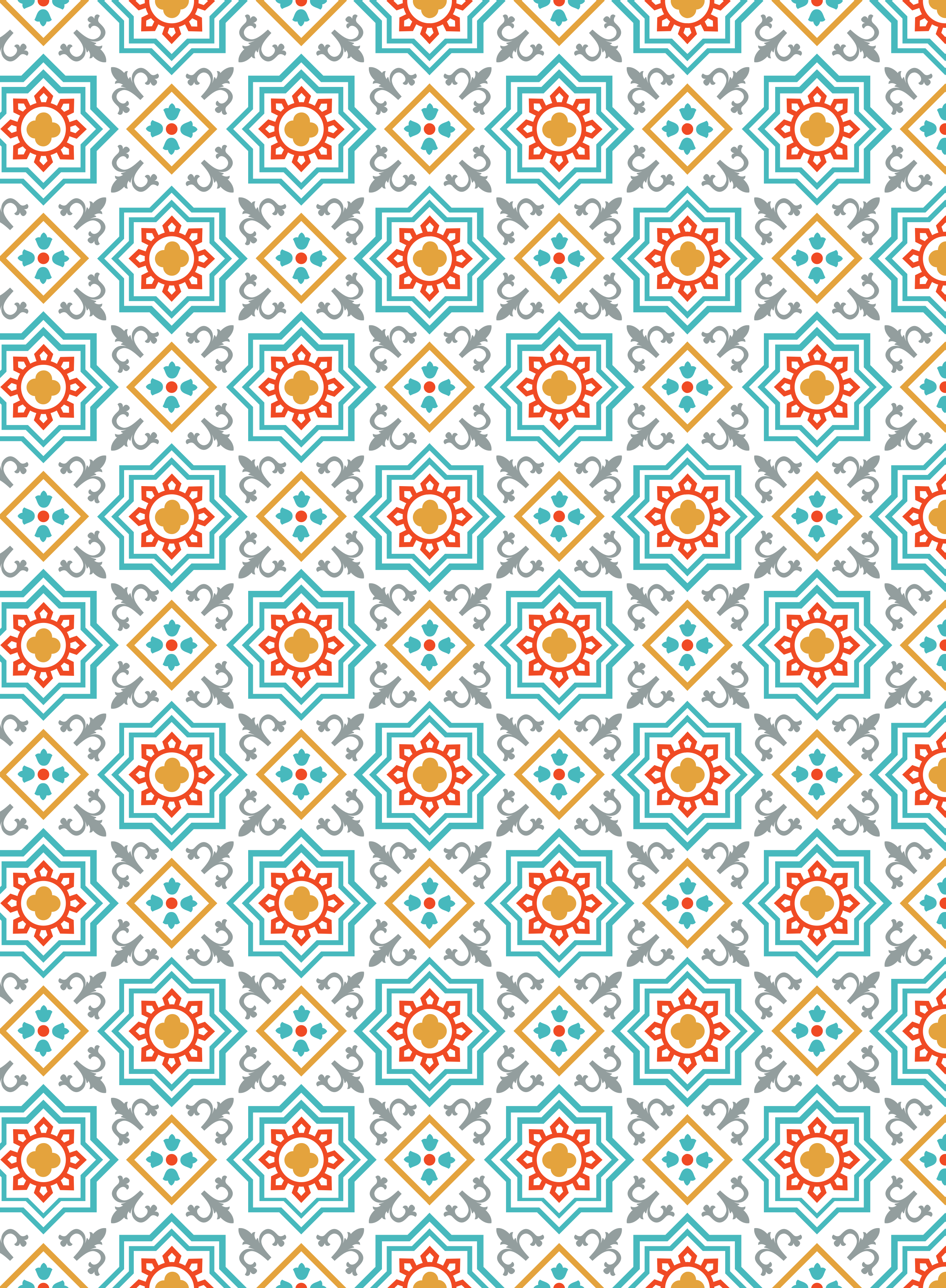 arabesque vector islamic pattern background