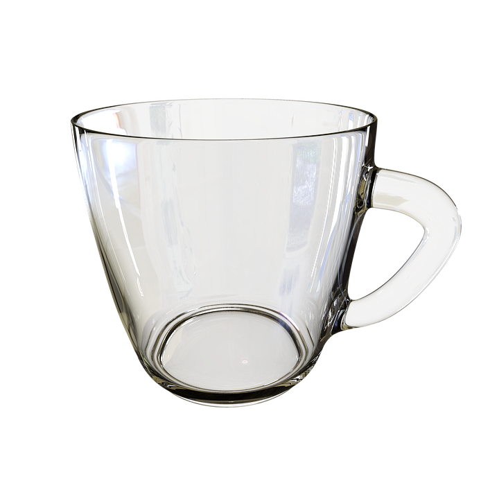 Cup transparent. Free photo glass background