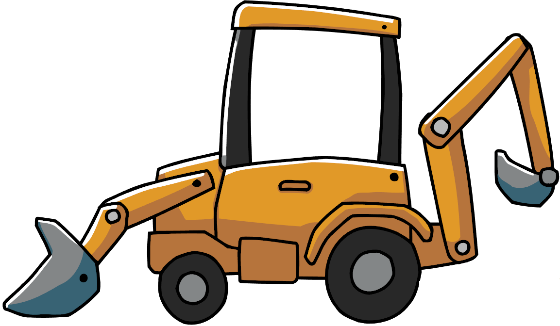 Backhoe clipart. Jpg library download huge