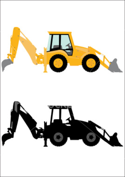 Loader . Backhoe clipart jpg royalty free library