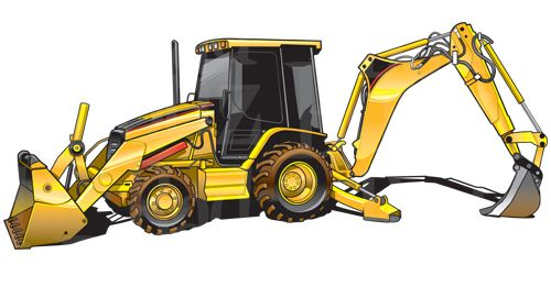 Backhoe clipart. Cat equipment pinterest caterpillar graphic transparent library
