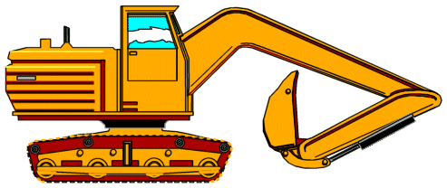 Construction free animated clip. Backhoe clipart banner transparent library