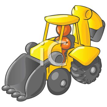 Backhoe clipart baby. Royalty free image orange jpg library library