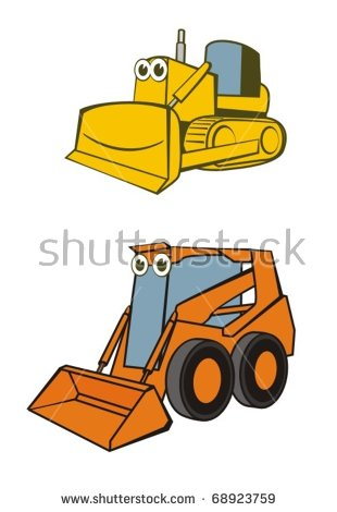 Excavator vector child machine. Backhoe clipart baby clip black and white stock