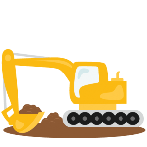 Excavator svg scrapbook cut. Backhoe clipart baby picture royalty free download