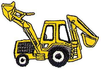 Backhoe clipart backhoe case. Silhouette at getdrawings com