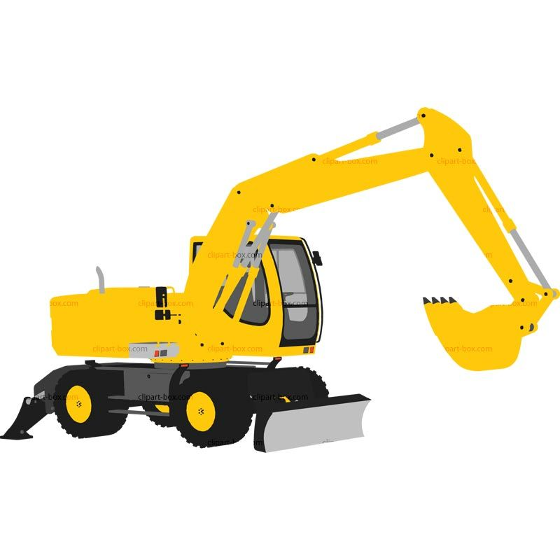 Backhoe clipart bulldozer. Silhouette vector at getdrawings graphic royalty free download