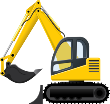 Caterpillar inc excavator heavy. Backhoe clipart car image freeuse library