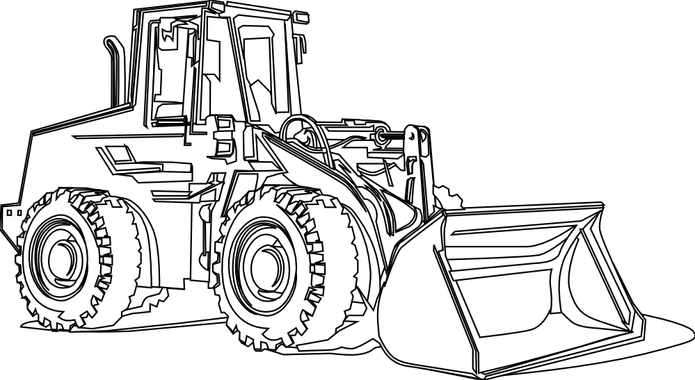 Backhoe clipart bulldozer. Cat free black and