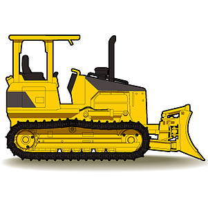 Backhoe clipart bulldozer. Dozer at getdrawings com black and white