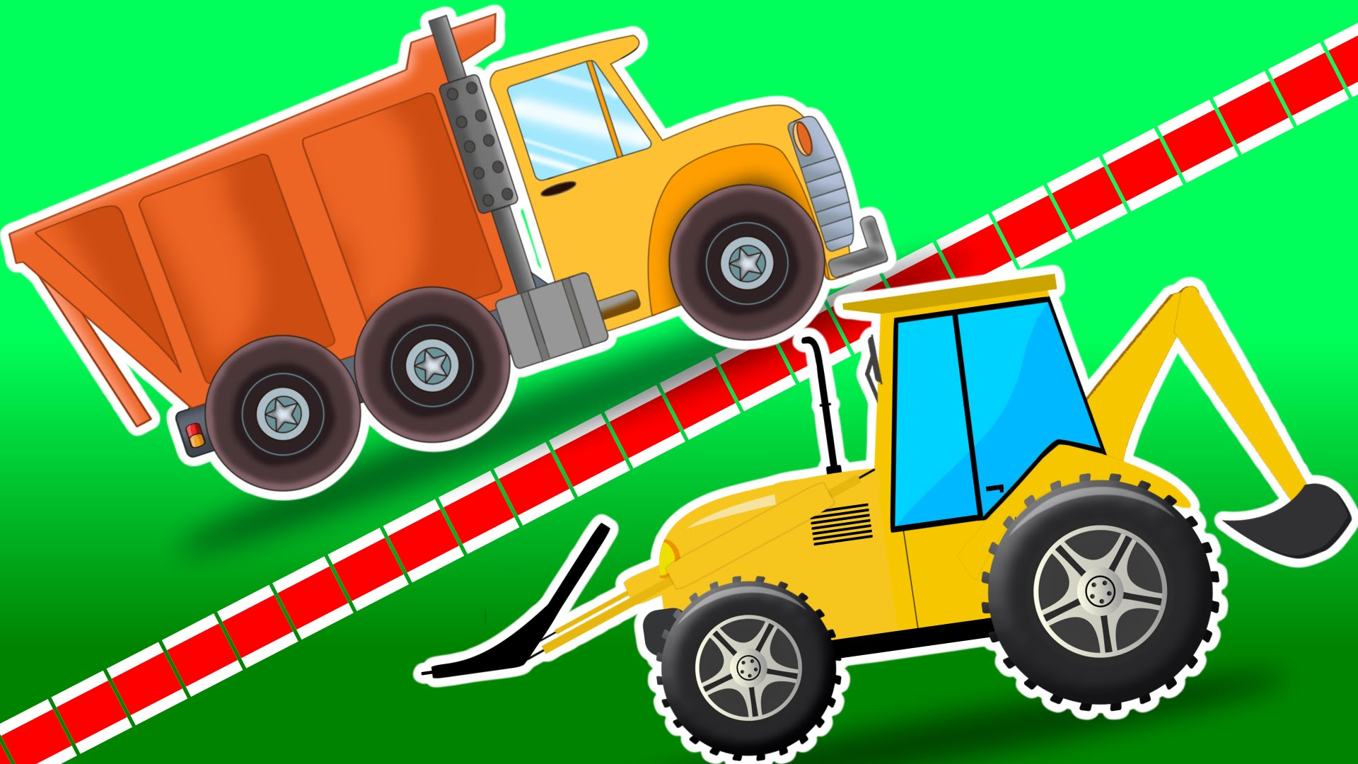 Dump truck vs loader. Backhoe clipart car svg free library