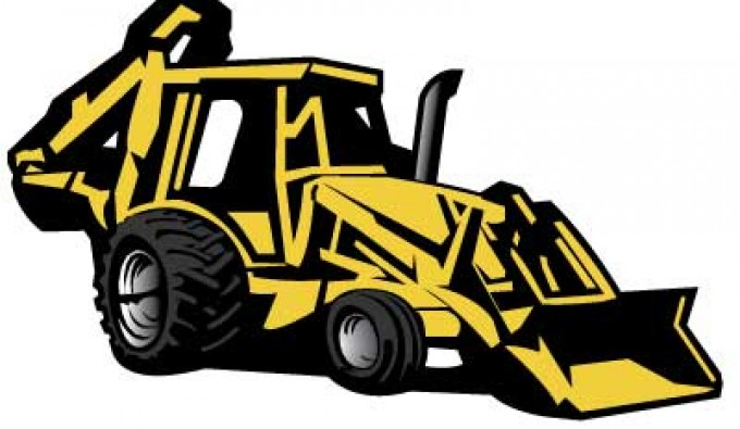 Backhoe clipart car. Excavator at getdrawings com svg free stock