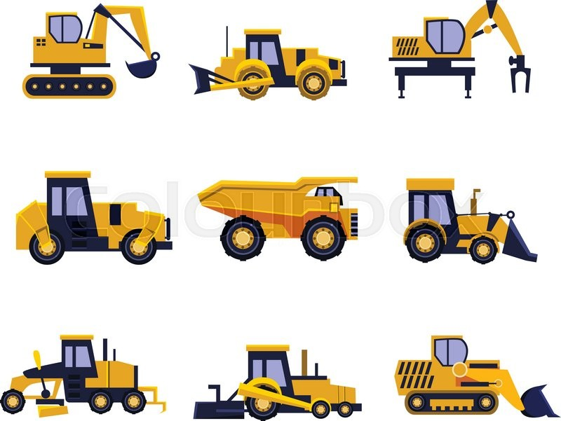 Construction equipment road roller. Backhoe clipart car graphic royalty free download