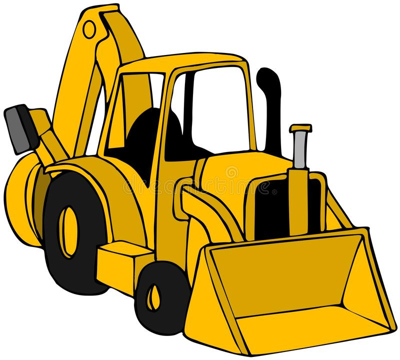 Stock illustration of cartoon. Backhoe clipart car clipart royalty free