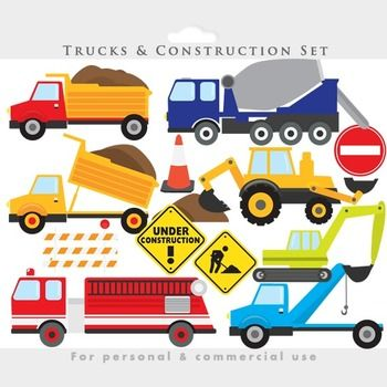 backhoe clipart construction birthday