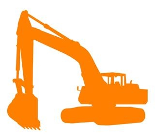 Backhoe clipart construction equipment. Silhouette at getdrawings com