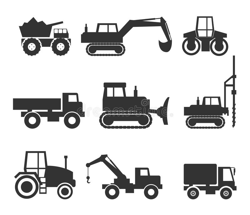 Machinery icon symbol graphics. Backhoe clipart construction equipment clip art free stock