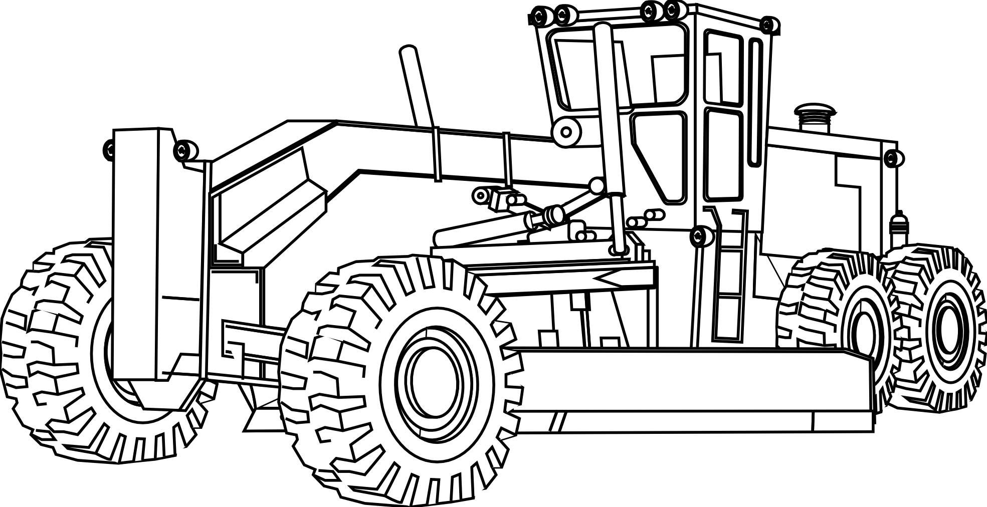 excavator svg transparent. Backhoe clipart engineering equipment graphic black and white library