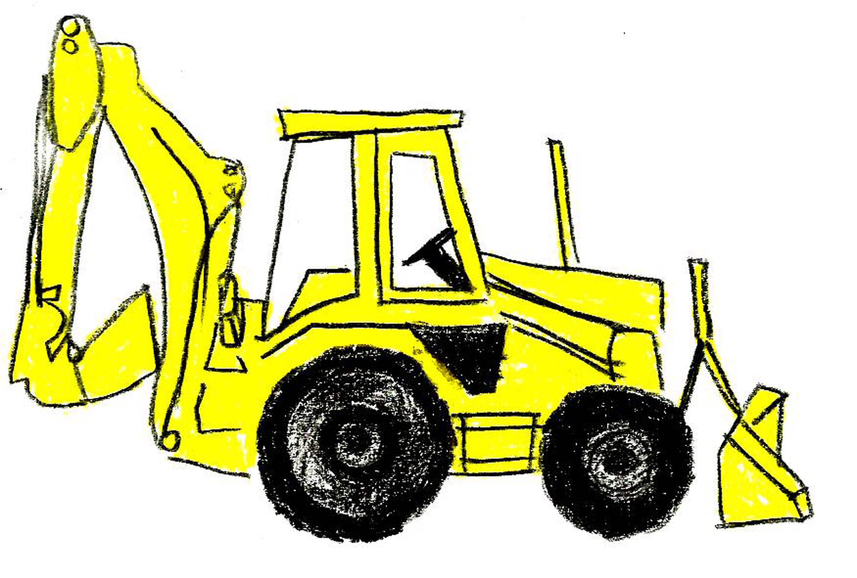 Backhoe clipart engineering equipment. Bulldozer silhouette vector at vector transparent download