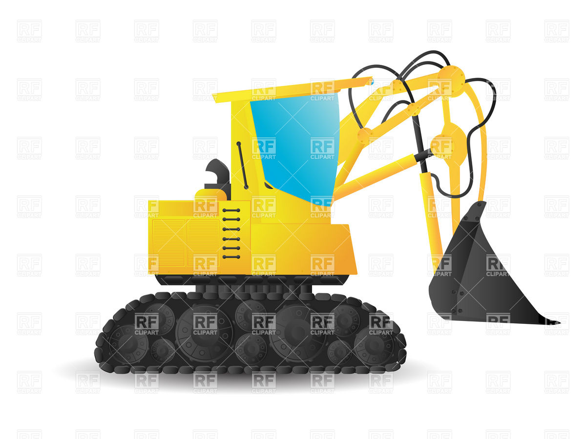 Backhoe clipart engineering equipment. Bulldozer silhouette vector at clip transparent download
