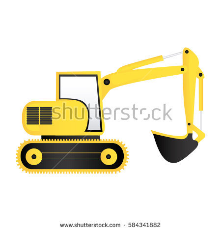 Color loader icon vector. Backhoe clipart engineering equipment clipart download