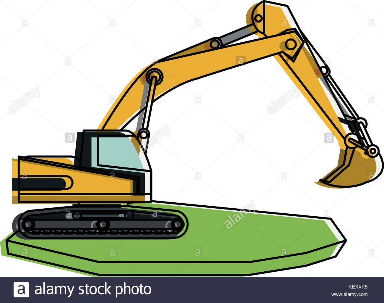 Heavy machinery construction icon. Backhoe clipart engineering equipment jpg library download