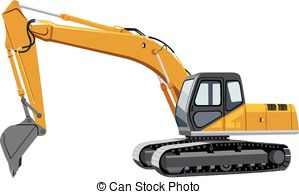 Vector eps images clip. Backhoe clipart excavator arm png library stock