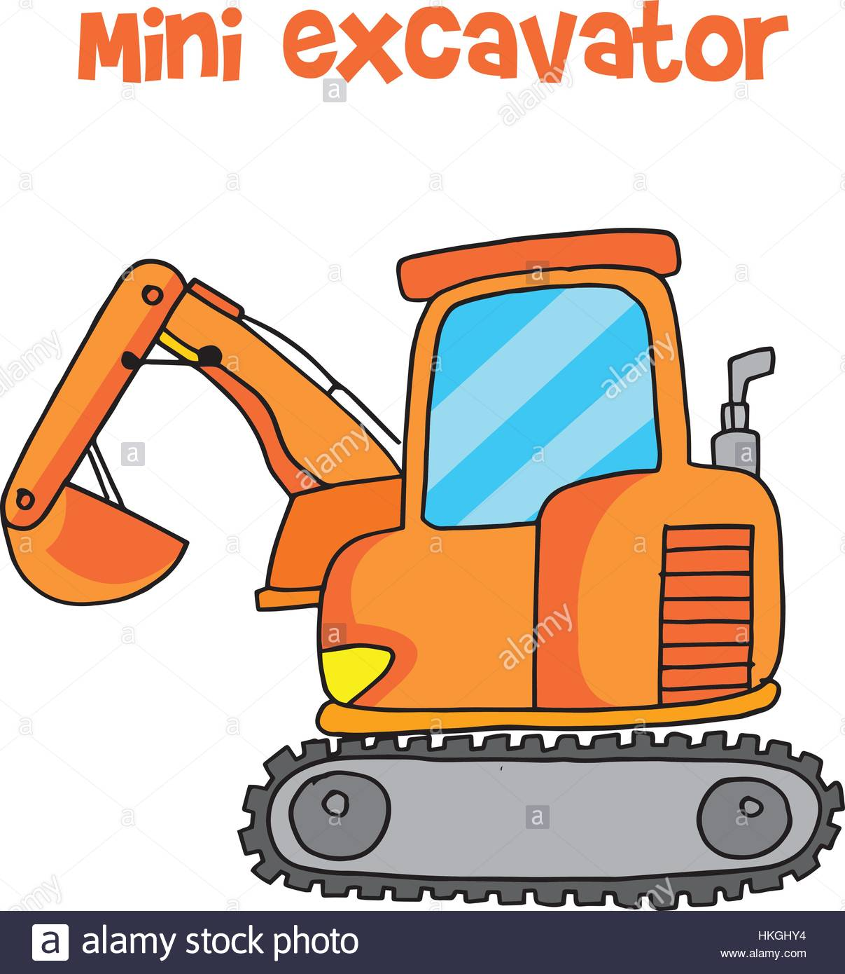 Backhoe clipart mini digger. Excavator stock vector images svg library stock