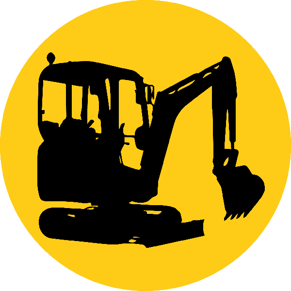 backhoe vector excavator arm
